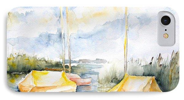 Sailboats Awakening Phone Case by Barbara Pommerenke