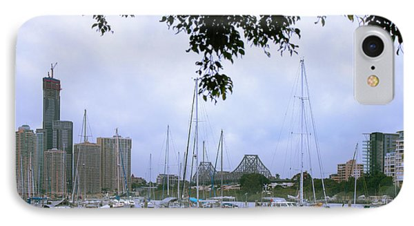 IPhone Case featuring the photograph Sailboats In Brisbane Australia by Jola Martysz