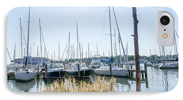 Sailboats On Back Creek IPhone Case