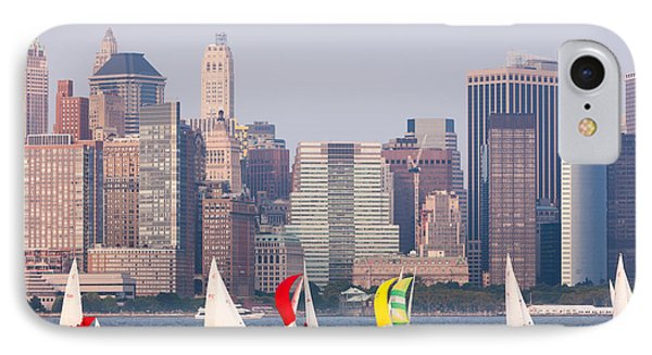 Sailboats On The Hudson I Phone Case by Clarence Holmes