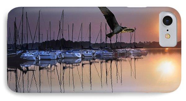 Sailboats Osprey Sunrise Phone Case by Randall Branham