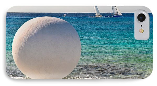 IPhone Case featuring the photograph Sailboats Racing In Cozumel by Mitchell R Grosky