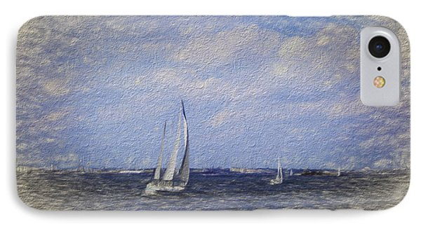 Sailboats IPhone Case by Terry Cork