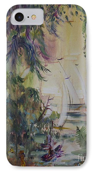 Sailboats Through The Trees IPhone Case by Avonelle Kelsey