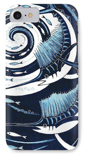Sailfish, 2013 Woodcut IPhone Case by Nat Morley