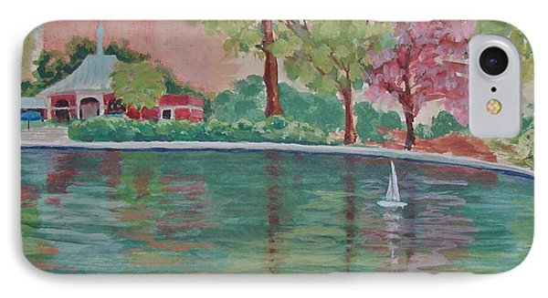 Sailin' Away In Central Park IPhone Case by Margaret Bobb