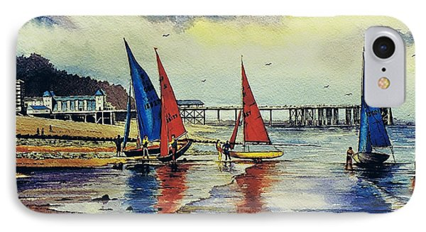 Sailing At Penarth Phone Case by Andrew Read