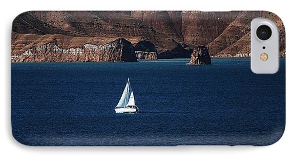 Sailing At Roosevelt Lake On The Blue Water IPhone Case by Tom Janca
