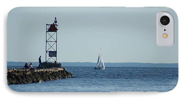 IPhone Case featuring the photograph Sailing At Southport Harbor by Margie Avellino