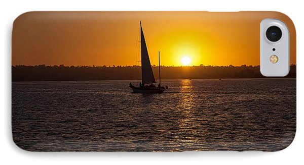 Sailing At Sunset IPhone Case by Margaret Buchanan