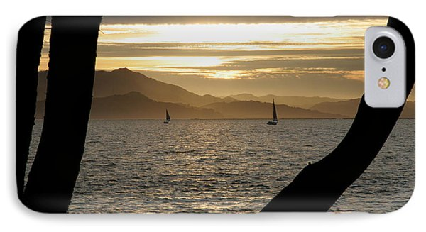 Sailing At Sunset On The Bay Phone Case by Robert Woodward