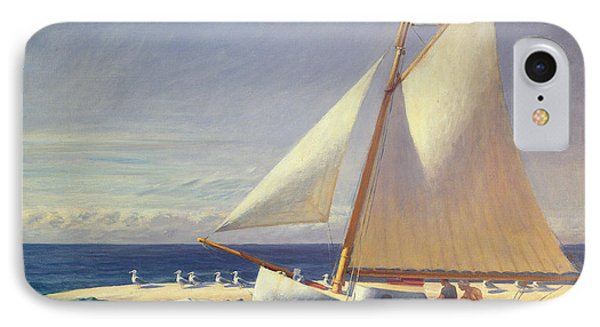 Boat iPhone 7 Case - Sailing Boat by Edward Hopper