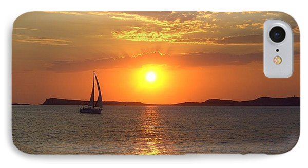 Sailing Boat In Ibiza Sunset IPhone Case