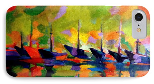 Sailing Boats By The River Phone Case by Helena Wierzbicki