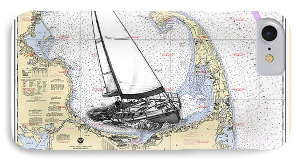 Sailing Cape Cod Bay IPhone Case by Jack Pumphrey