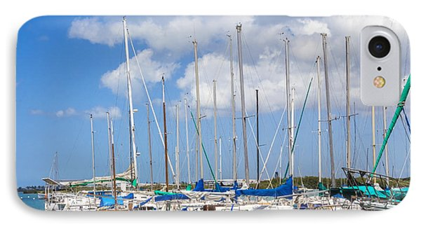 Sailing Club Marina 1 IPhone Case by Leigh Anne Meeks