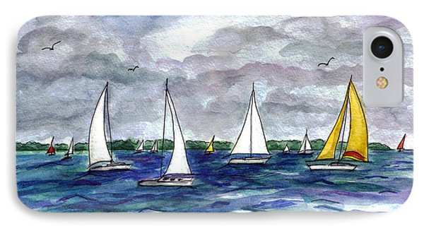 Sailing Day IPhone Case by Clara Sue Beym