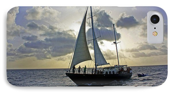 IPhone Case featuring the photograph Sailing In Aruba by Suzanne Stout