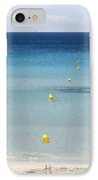 Son Bou Beach In South Coast Of Menorca Is A Turquoise Treasure - Sailing In Blue IPhone Case by Pedro Cardona