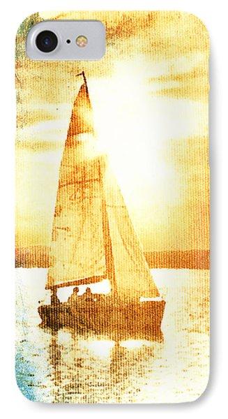 Sailing In Orange IPhone Case by Andrea Barbieri