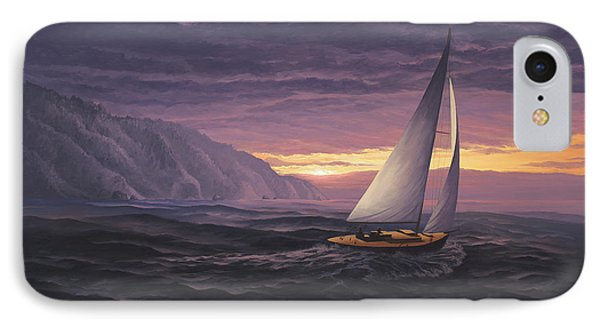 Sailing In Paradise - Big Sur IPhone Case by Del Malonee
