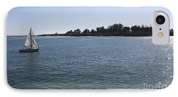 Sailing In Santa Cruz IPhone Case by Mary Chris Hines