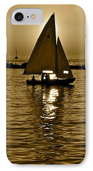 Sailing In Sepia Phone Case by Frozen in Time Fine Art Photography