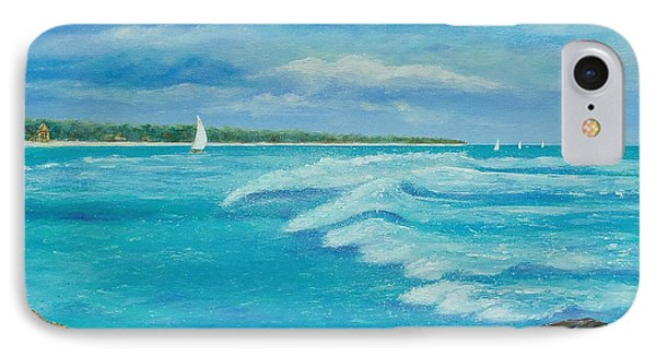 IPhone Case featuring the painting Sailing In The Bay by Susan DeLain