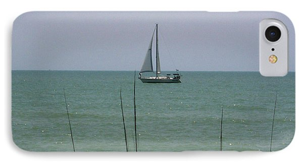 IPhone Case featuring the photograph Sailing In The Gulf by D Hackett