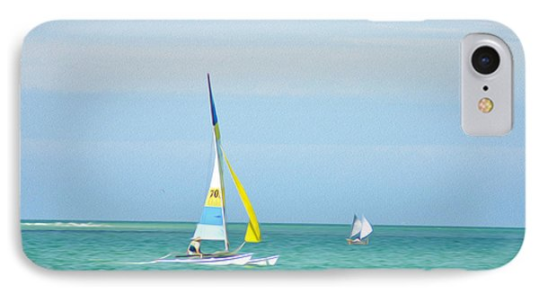Sailing In The Gulf Of Mexico Phone Case by Bill Cannon