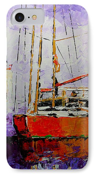 Sailing In The Mist IPhone Case by Vickie Warner