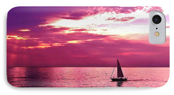 Sailing Into The Setting Sun IPhone Case by Kathi Mirto