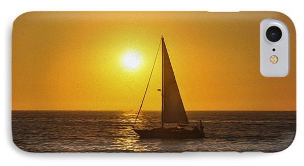 Sailing Into The Sunset Phone Case by Aged Pixel