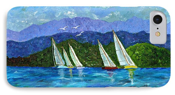IPhone Case featuring the painting Sailing by Laura Forde