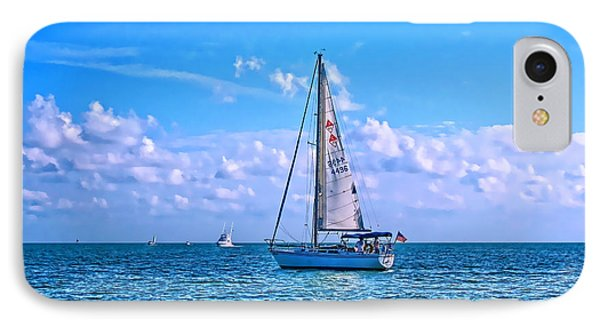 Sailing Off Of Key Largo IPhone Case