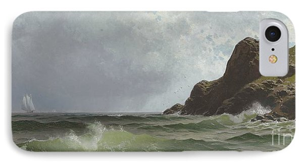 Sailing Off The Coast Phone Case by Alfred Thompson Bricher