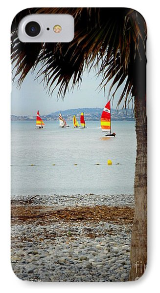 Sailing On A Cloudy Morning Phone Case by Lainie Wrightson