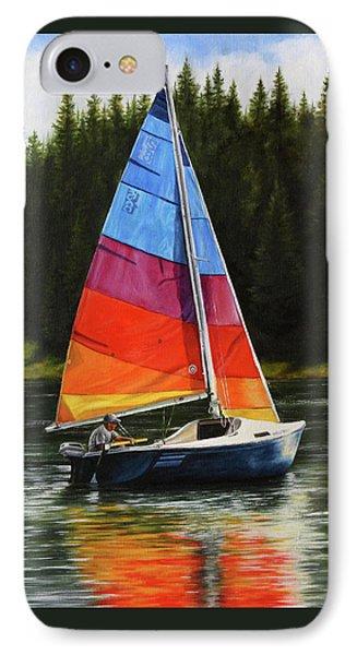 Sailing On Flathead IPhone Case by Kim Lockman