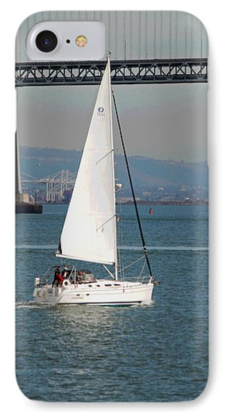 Sailing On The Bay II IPhone Case by Suzanne Gaff
