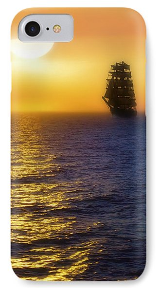 Sailing Out Of The Fog At Sunrise Phone Case by Jason Politte