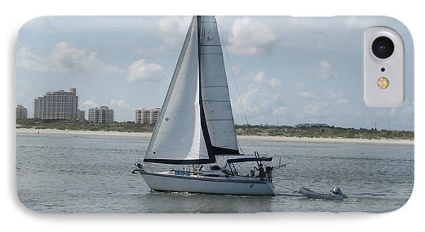 IPhone Case featuring the digital art Sailing Ponce Inlet Florida by Brian Johnson