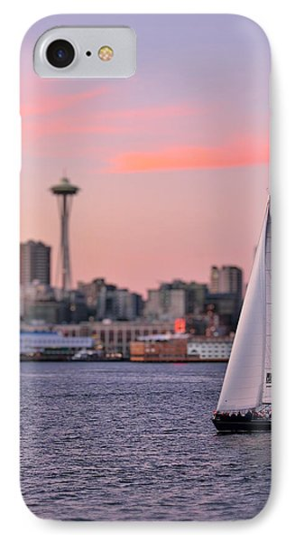 Sailing Puget Sound Phone Case by Adam Romanowicz