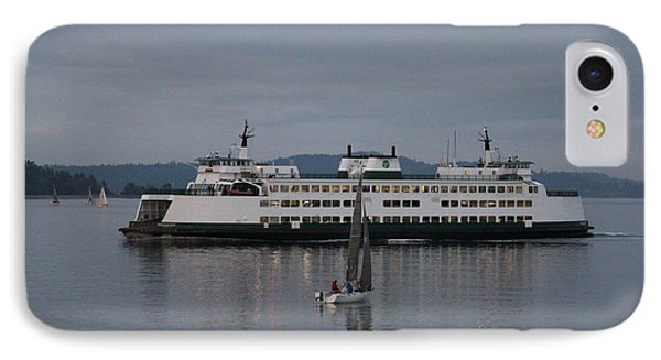 IPhone Case featuring the photograph Sailing Regatta And Issaquah Ferry by E Faithe Lester