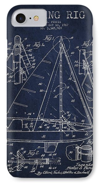 Sailing Rig Patent Drawing From 1967 IPhone Case