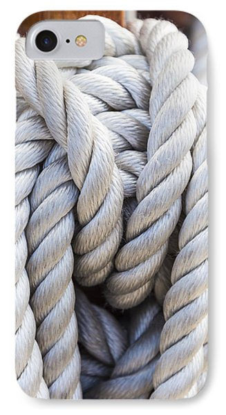 IPhone Case featuring the photograph Sailing Rope 1 by Leigh Anne Meeks
