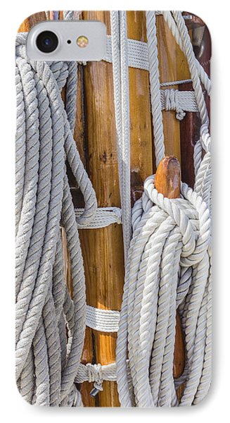 IPhone Case featuring the photograph Sailing Rope 4 by Leigh Anne Meeks