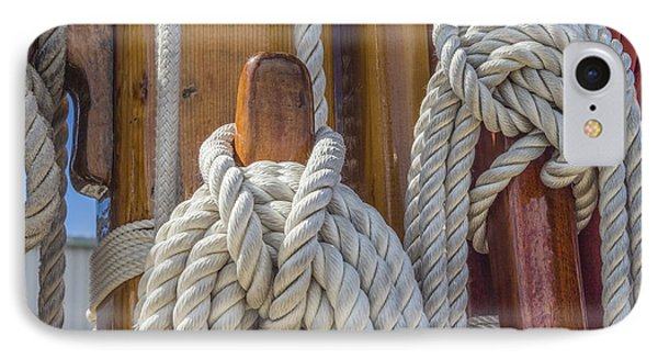 Sailing Rope 5 IPhone Case by Leigh Anne Meeks