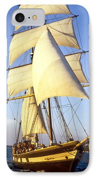 Sailing Ship Carribean IPhone Case by Douglas Barnett