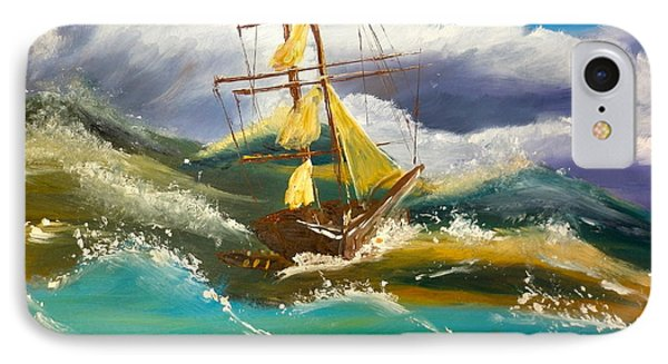 Sailing Ship In A Storm IPhone Case