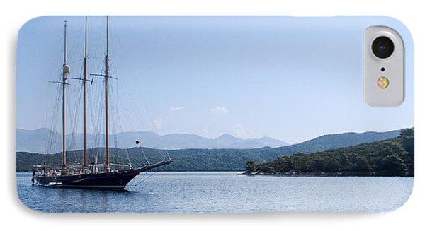 Sailing Ship In The Adriatic Islands IPhone Case